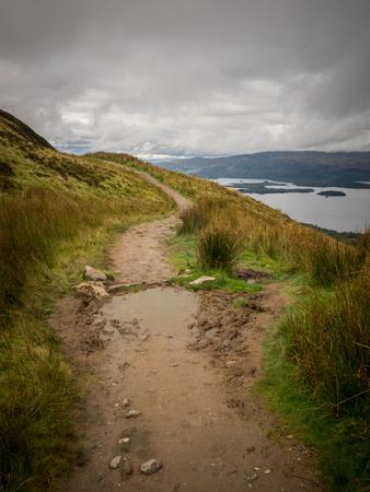 walking on conic hill, scotland