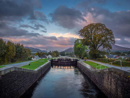 neptunes staircase, fort william Stock Photo