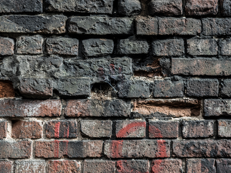 details of an old brick wall Banco de Imagens