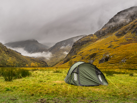 tent in the scottish highlands