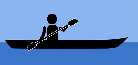 Man in kayak icon
