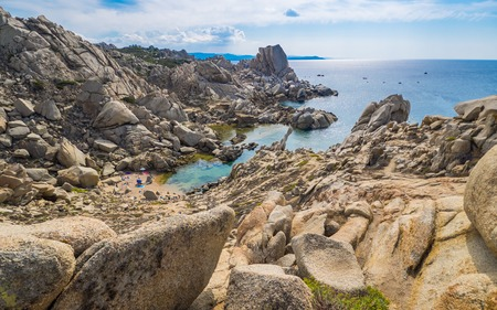 Rock formations at Capo Testa, Sardinia