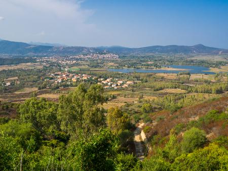 landscape near posada on sardinia, italy