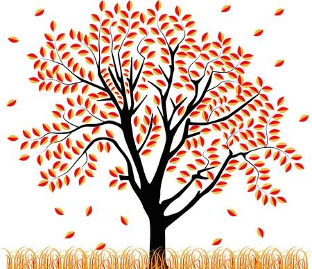 imagem vetorial de uma árvore na primavera