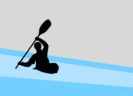 silhouette of a kayaker Imagens - 94549413