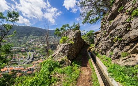 Walking alona a Levada in Madeira, Portugal