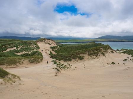 Dunes at Balnakeil Beach, Durness, Scotland Banco de Imagens