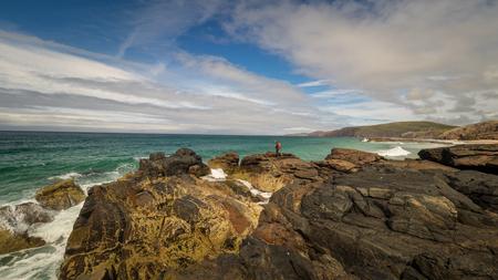 Rocks at Sandwood beach, northern Scotland