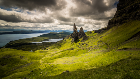 Old man of Stor, Isle of Skye with dramatic sky