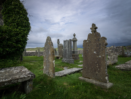 Unnamed gravestones in the scottish highlands Imagens
