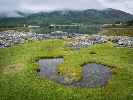 Small lake shaped like a U, Scotland