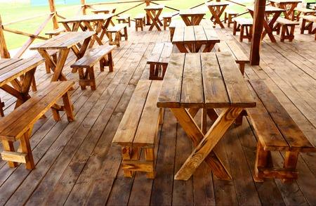 campesino: estilo de campo de madera campesino café al aire libre Foto de verano