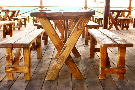 campesino: peasant wooden country style outdoor cafe summer photo
