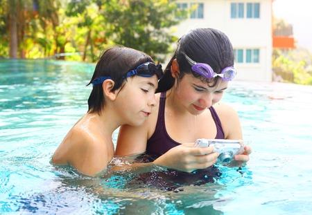 Teen Siblings Boy And Girl Brother Sister Make Underwater