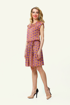 fashion business woman in summer dress