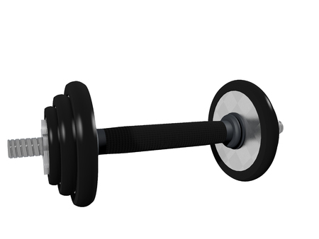 3d illustration of dumbbell isolated on white Foto de archivo - 118705757