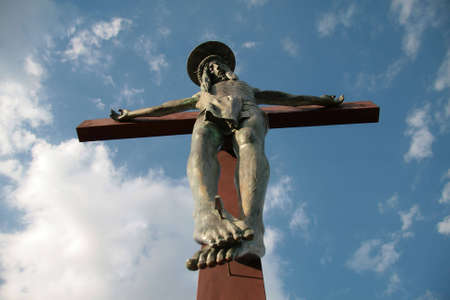 Statue of Jesus crucified on the top of a mount in Sardinia, Italy Stock Photo - 6261121