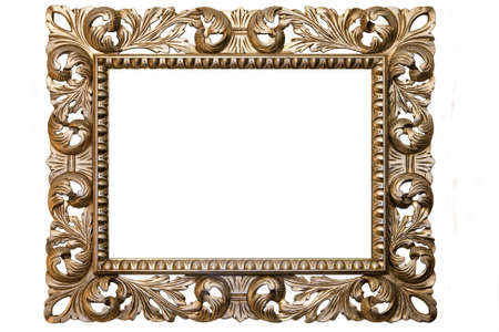 picture window: an image of an old gold plated frame
