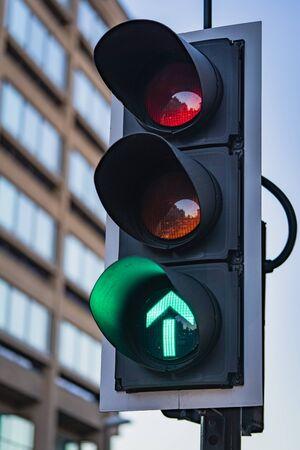 A Close-up of a UK Traffic Light