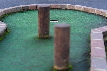 Crazy golf holes outside