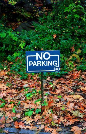 no parking: Aucun signe de stationnement - parc central, NY