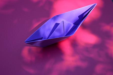 folded paper: A folded paper boat