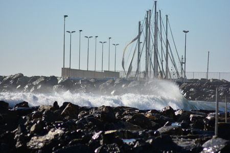 waterpolo: The Mediterranean sea After Storm