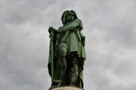 panoply: The emblematic statue of vercingetorix in Burgundy (East of France). Stock Photo