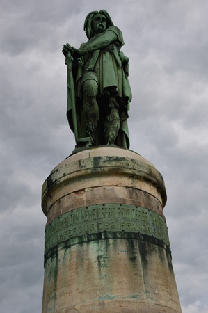 panoply: The emblematic statue of vercingetorix   in Burgundy (East of France).