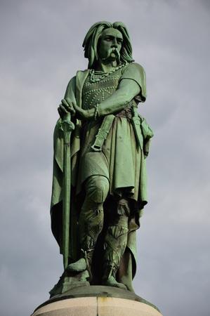 The emblematic statue of vercingetorix in Burgundy (East of France).