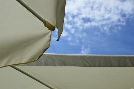parasol: Blue Sky with Parasol (Sunshade)