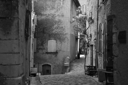 typical: Typical French narrow street