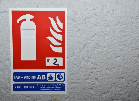 Fire extinguish sign