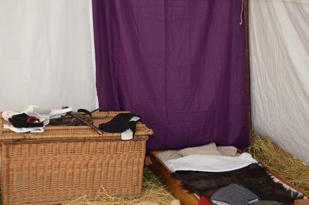 Mediaeval camp Stock Photo