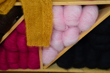 finesse: Colorful wool for knitting