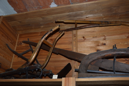 Old wooden agriculture tools