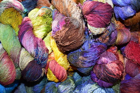 Multicolored wool for knitting