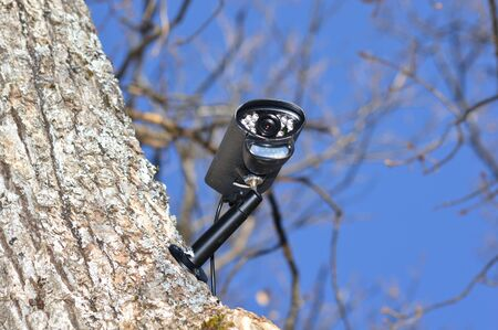 Closeup on a video surveillance camera
