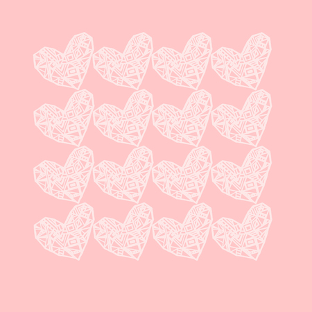 postcard: Pink romantic postcard Stock Photo
