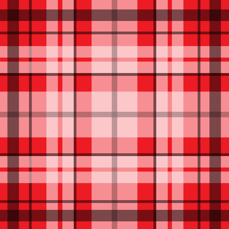 balck: Vector seamless scottish tartan pattern in red, balck and white.British or irish celtic design for textile, clothes, fabric or for wrapping, backgrounds, wallpaper