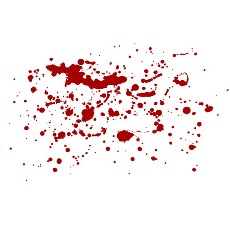 Vector isolated blood splash. Red splashes