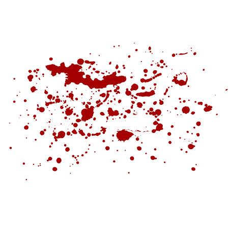 Vector isolated blood splash. Red splashes