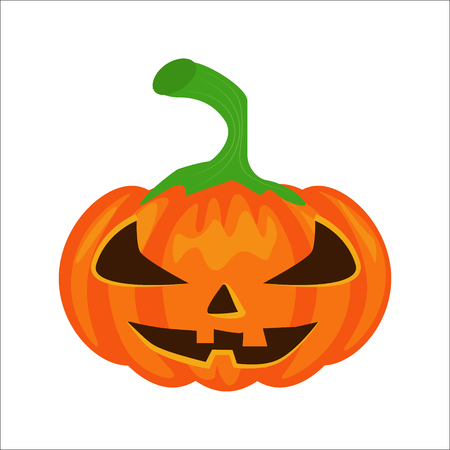 cutting sticker: Vector isolated pumpkin. Halloween design, emotion,  angry, smiling, sad, scary, evil, smile. Jack lantern for website, flier, invitation card, sticker