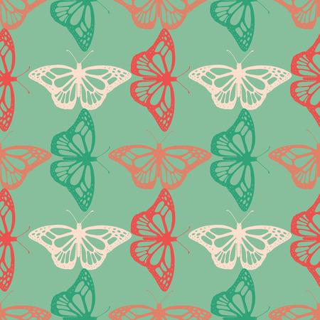 Realistic butterfly pattern. Illustration