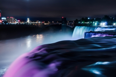 Light Show at Niagara Falls, New York photo