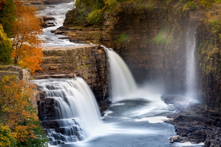 chasm: Ausable Chasm Waterfall, Adirondack mountains, Upstate New York Stock Photo