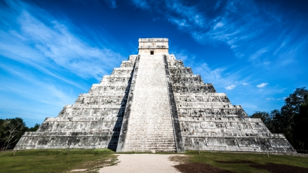 archaeological sites: The famous Mayan pyramid in Chichen Itza, Mexico  Chichen Itza is one of the most visited archaeological sites in Mexico