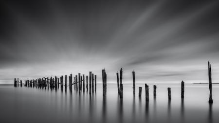 desolation: Dreams of Desolation  Fine Art seascape with a decayed pier