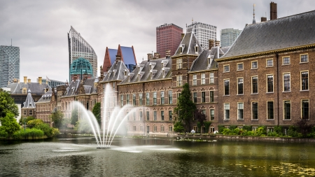 Senate building of the Dutch parliament complex in The Hague, The Netherlands photo