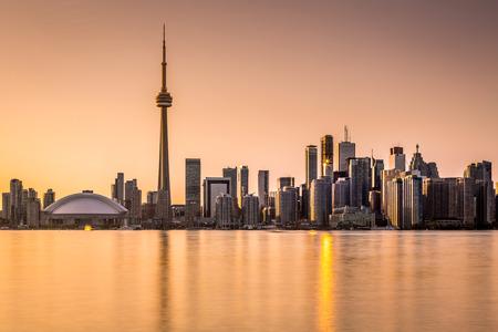 Toronto skyline at sunset photo
